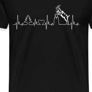 My cologne heartbeat - Goat and twin towers - Men's Premium T-Shirt