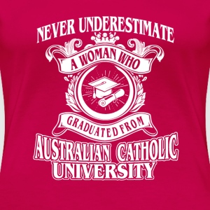 Woman from Australian Catholic University - Women's Premium T-Shirt