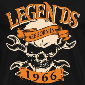 Born in 1966 - Legends skull T-shirt - Men's Premium T-Shirt