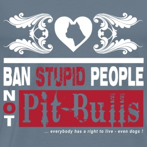 Pitbull dog lover - a right to live - Men's Premium T-Shirt