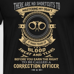 Correction Officer - blood, sweat and tears - Men's Premium T-Shirt