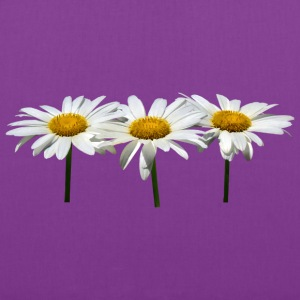 Three Daisies In A Row Bags & backpacks - Tote Bag