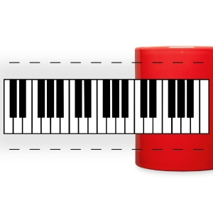 piano, piano keys Mugs & Drinkware - Full Color Panoramic Mug