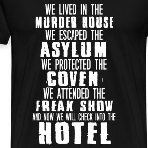 hotel- murder house asylum coven check hotel - Men's Premium T-Shirt
