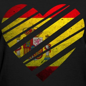 Spain Heart Women's T-Shirts - Women's T-Shirt