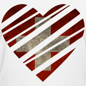 Switzerland Heart Women's T-Shirts - Women's T-Shirt