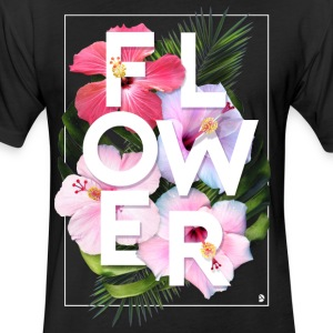 AD Flower T-Shirts - Fitted Cotton/Poly T-Shirt by Next Level