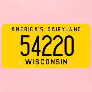 Retro Manitowoc Wisconsin Zip Code License Plate W - Women's Premium T-Shirt