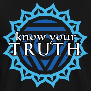 Know Your Truth Throat Chakra T-Shirt - Men's Premium T-Shirt