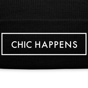 Chic Happens Sportswear - Knit Cap with Cuff Print