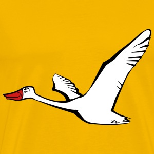 Bird flying goose duck T-Shirts - Men's Premium T-Shirt