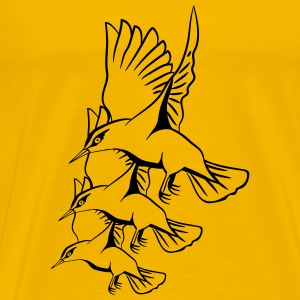 Bird fly formation flutter T-Shirts - Men's Premium T-Shirt