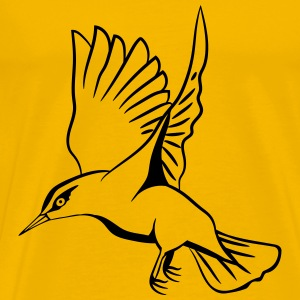 fluttering bird flying T-Shirts - Men's Premium T-Shirt