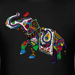 psychedelic Elephant - Men's T-Shirt