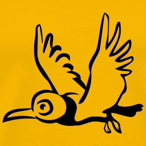 bird flying T-Shirts - Men's Premium T-Shirt