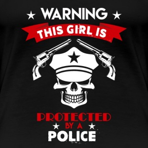 Protected By Police - Women's Premium T-Shirt