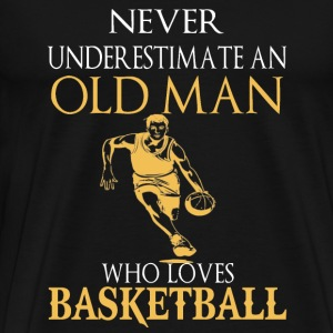Basketball – An old man who loves basketball - Men's Premium T-Shirt