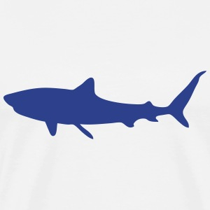 shark shadow figure 1 T-Shirts - Men's Premium T-Shirt