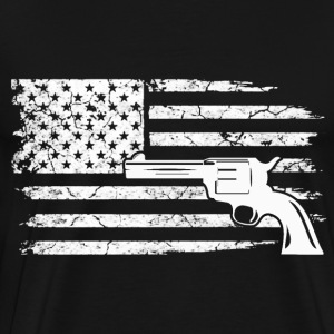 Gun owner - American Flag - Men's Premium T-Shirt