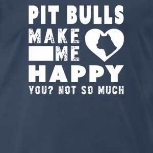 Pit bull lover - Pit bull make me happy - Men's Premium T-Shirt