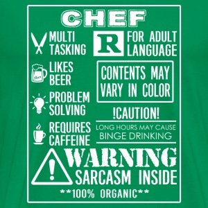 Chef – Warning sarcasm inside - Men's Premium T-Shirt