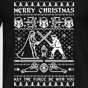Star War Chirstmas - May the force be with you - Men's Premium T-Shirt
