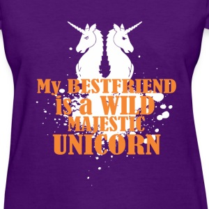 Best friend is majestic unicorn fun tee - Women's T-Shirt