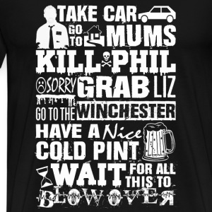 Shaun of the dead – Take car go to mums - Men's Premium T-Shirt