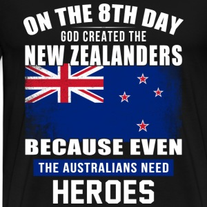 On the 8th day god created the new zealanders - Men's Premium T-Shirt