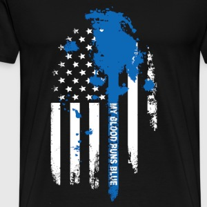 Blue Blood – My blood runs blue - Men's Premium T-Shirt