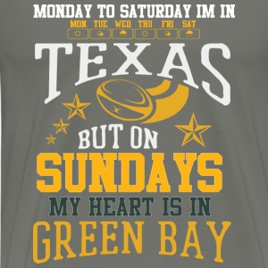 Green Bay – On Sundays my heart is in Green Bay - Men's Premium T-Shirt