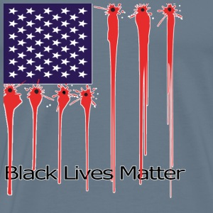American flag – Black lives matter - Men's Premium T-Shirt