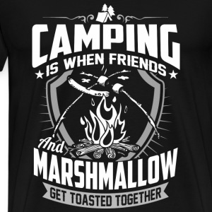 Camping – When friends and marshmallow get toast - Men's Premium T-Shirt