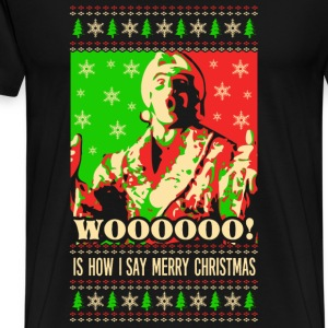 Woo christmas – Say merry christmas - Men's Premium T-Shirt