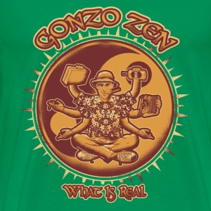 Gonzo zen – What is real - Men's Premium T-Shirt