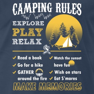 Camping rules – Time to relax and explore - Men's Premium T-Shirt