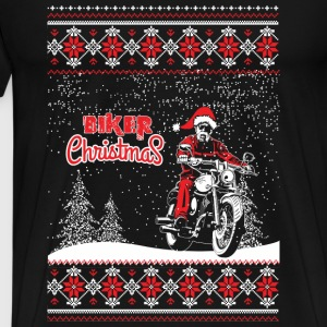 Biker - Biker Lover on Chrisrmas - Men's Premium T-Shirt