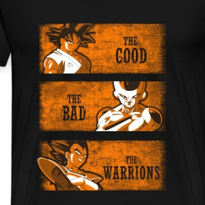 Dragon Ball – The good, The bad, The warrions - Men's Premium T-Shirt