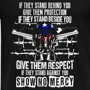 Gun owner – Show no mercy –2nd Amendment - Men's Premium T-Shirt