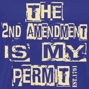 The 2nd amendment is my permit - Men's Premium T-Shirt