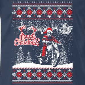 Biker Christmas Sweater - Men's Premium T-Shirt