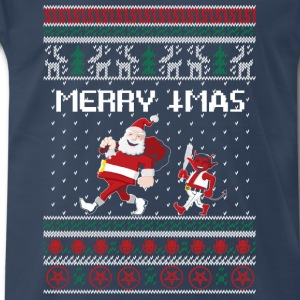 Santa Claus – Merry Christmas Sweater - Men's Premium T-Shirt