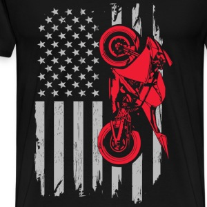 Sports bike flag - Men's Premium T-Shirt