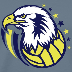 volleyball water polo eagle head T-Shirts - Men's Premium T-Shirt
