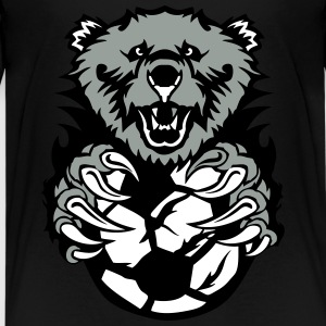 soccer bear open mouth cartoon face Kids' Shirts - Kids' Premium T-Shirt