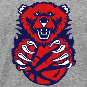 basketball bear open mouth cartoon face T-Shirts - Men's Premium T-Shirt