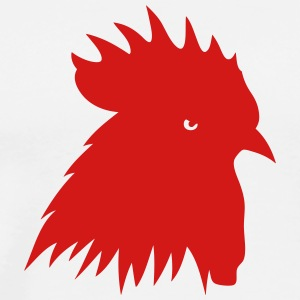 rooster silhouette shadow 702 T-Shirts - Men's Premium T-Shirt