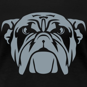 bulldog dog head wild animals 7012 T-Shirts - Women's Premium T-Shirt
