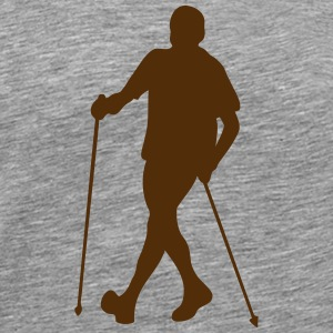 nordic walking nordic sticks 1 T-Shirts - Men's Premium T-Shirt