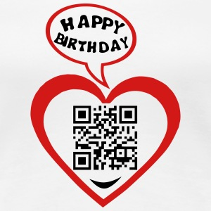 60 years qr code flash happy birthday T-Shirts - Women's Premium T-Shirt